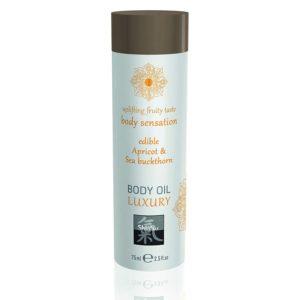 Shiatsu Luxury Body Oil Edible Apricot And Sea Buckthorn 75ml