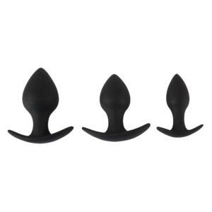 Black Velvet Silicone Three Piece Anal Training Set