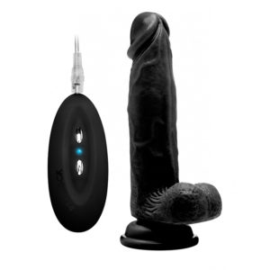 RealRock 8 Inch Vibrating Realistic Cock With Scrotum
