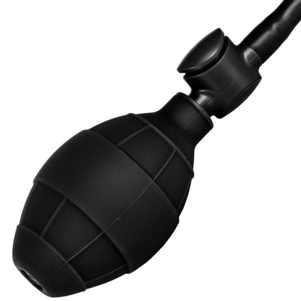 Black Booty Call Pumper Silicone Inflatable Medium Anal Plug